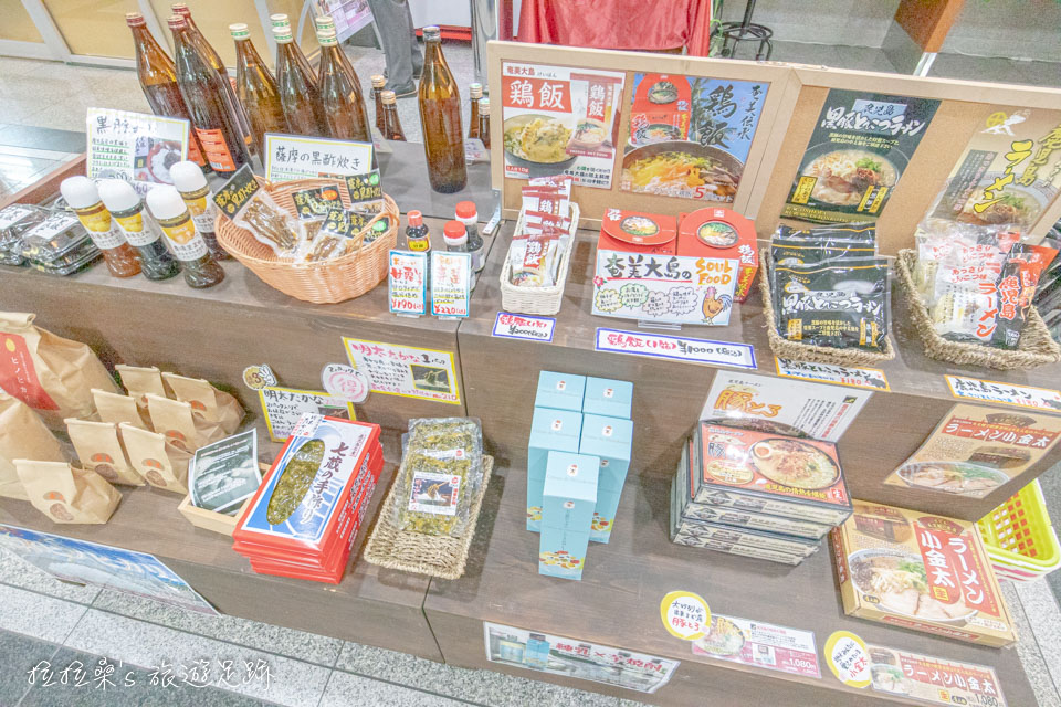 鹿兒島天文館廣場飯店1樓大廳也有販賣一些在地名特產,像是酒類、醬料、拉麵等等