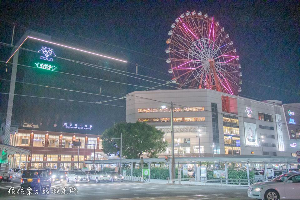 JR鹿兒島中央車站則有 AMU Plaza 百貨可逛,還可以坐摩天輪喲~
