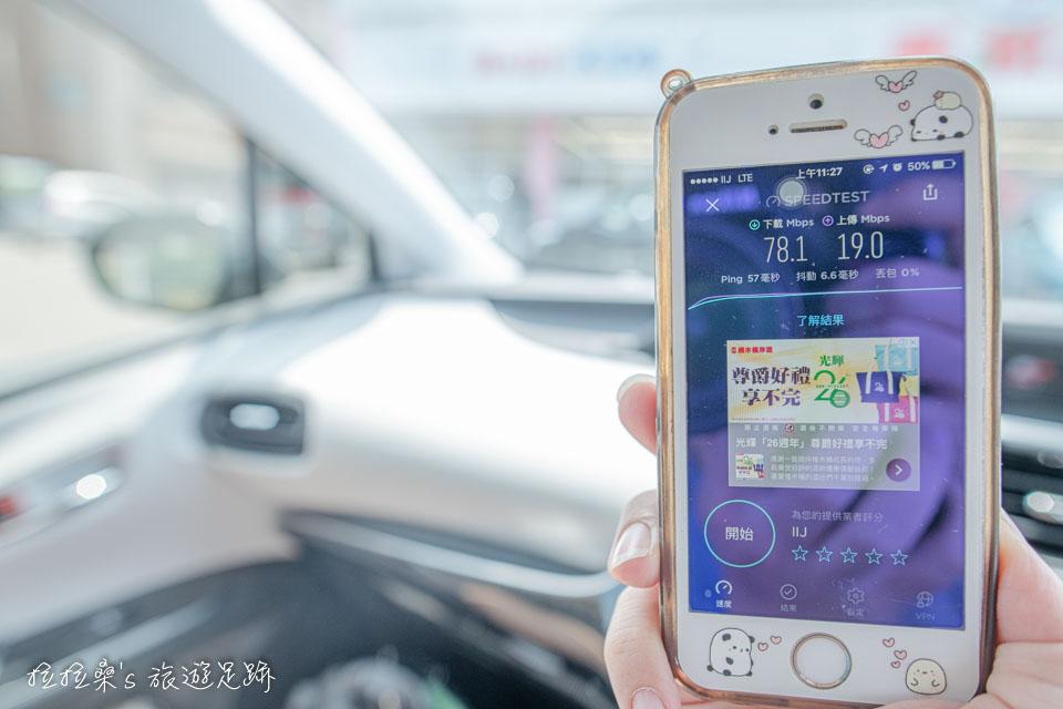 日本 docomo SIM卡 吃到飽無限制6日方案,長崎測速