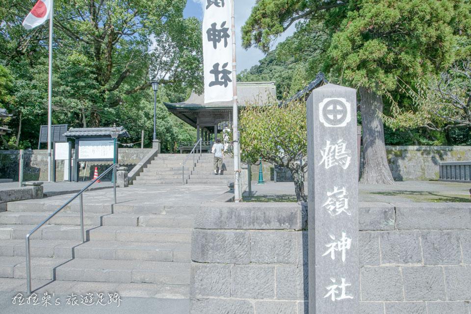 日本鹿兒島鶴嶺神社,美人御守能祈求身心都像龜壽姬一樣美,仙巖園旁的小神社