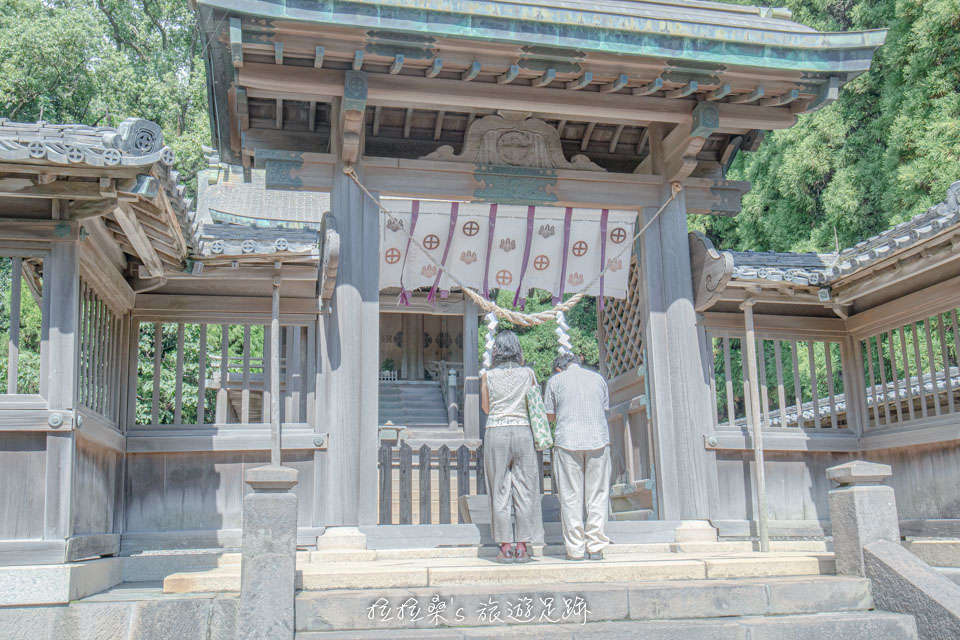日本鹿兒島鶴嶺神社本殿,供奉著島津氏祖先、藩主