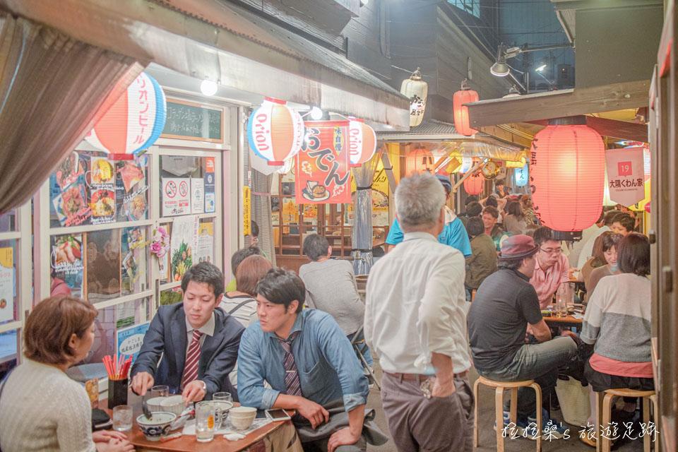 日本鹿兒島屋台村,感受在日式屋台熱鬧的用餐氣氛,集合了多種美味讓大家選擇