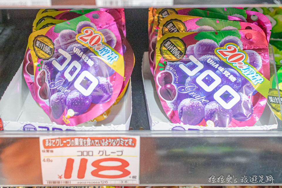 唐吉訶德鹿兒島天文館店也有曾經爆紅的 コロロ果汁軟糖,送朋友一人一包剛剛好