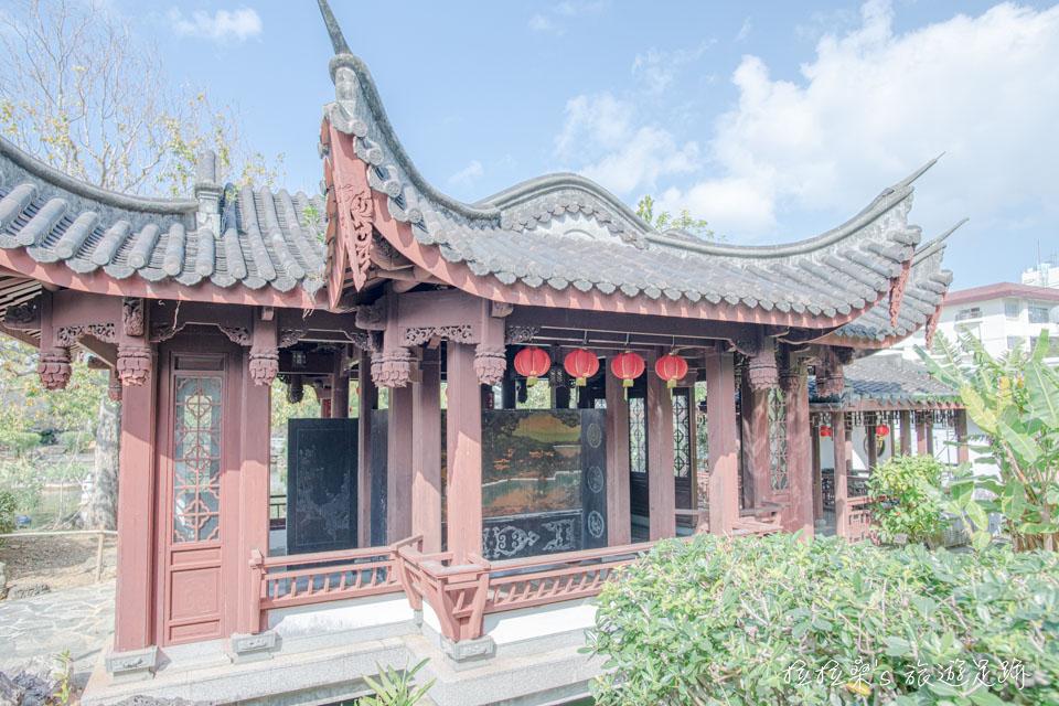 日本沖繩福州園,叢桂亭、三十六鴛鴦館,也都保留了福州傳統建築的精粹