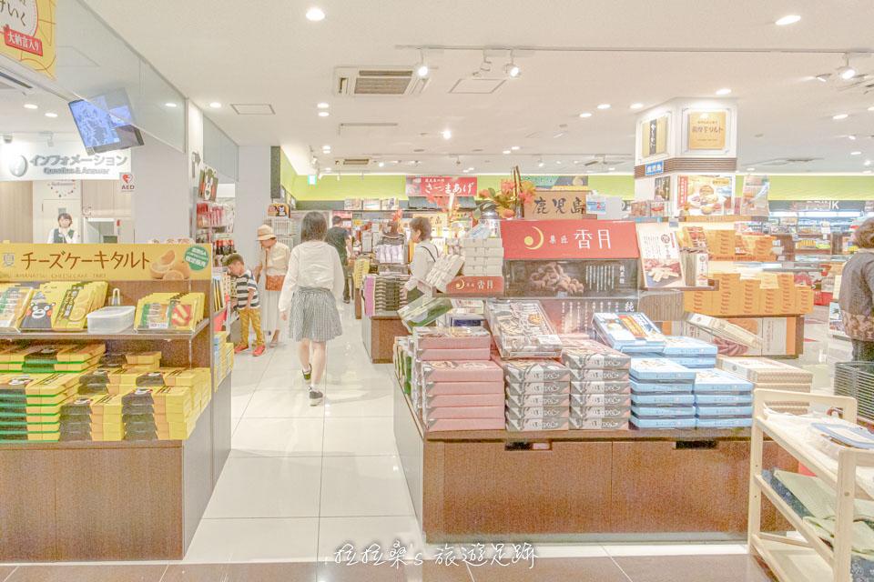 日本九州高速公路宮原SA裡的購物區