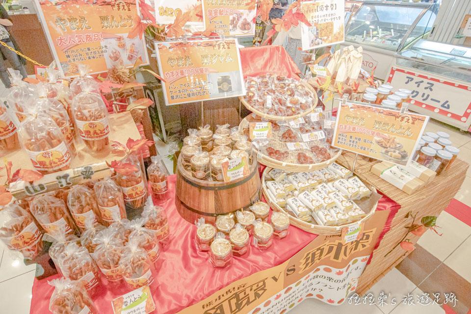 日本九州宮原SA裡頭的旬彩館,則是大家必逛的名特產專區,熊本、鹿兒島、宮崎的名產樣樣都有