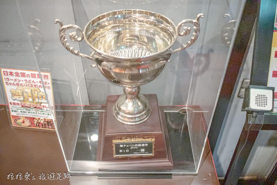 一蘭拉麵2016年獎杯