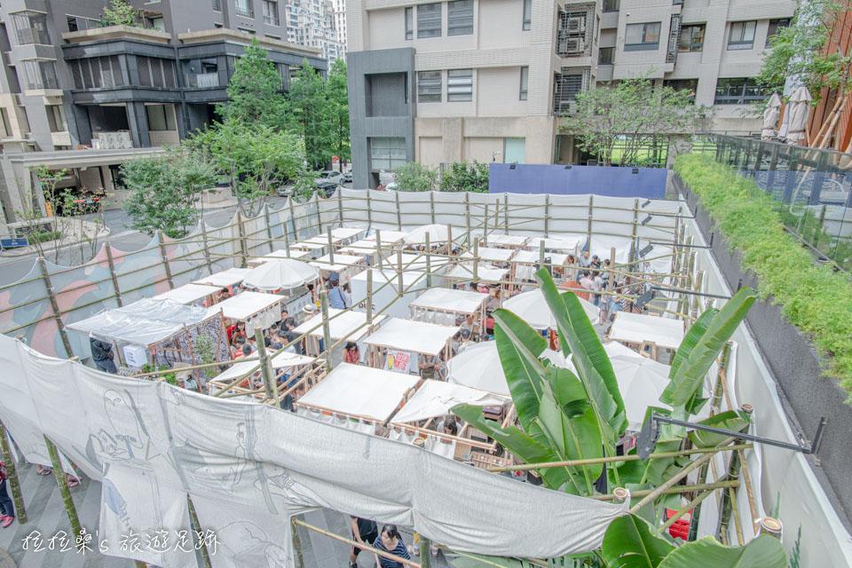 台中綠美丘藝術市集,約莫20多個攤位