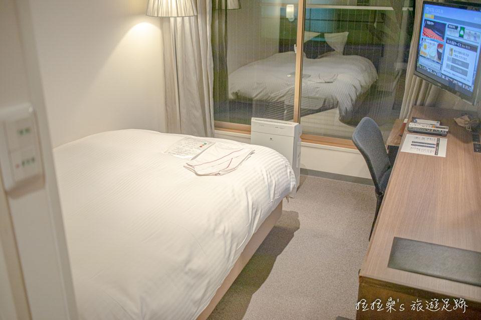 日本鹿兒島天文館之門飯店的小型雙人房