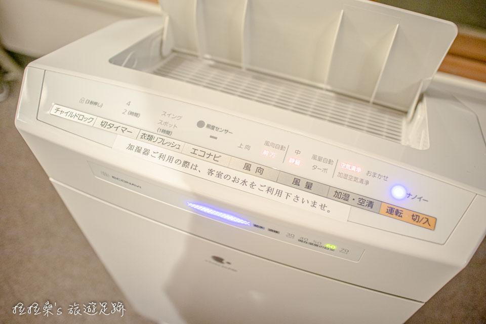 空氣清淨機也是鹿兒島天文館之門飯店的標配