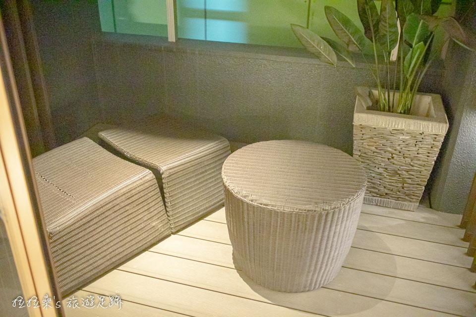 鹿兒島天文館之門飯店的小陽台