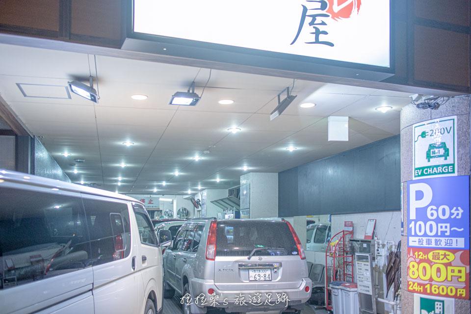 日本鹿兒島天文館之門飯店有收費停車場,租車自駕也很方便