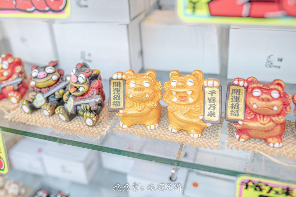 琉球獅子 風獅爺是最具代表性的沖繩紀念品,在沖繩國際通的伴手禮店都能買到