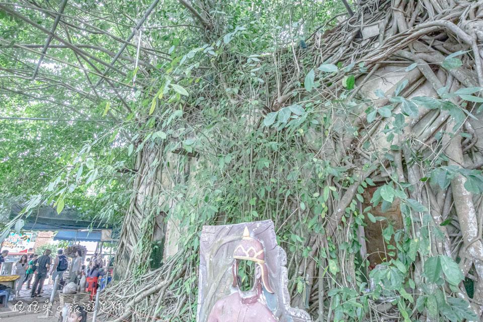 樹中廟的四周,也有用來拍照的小道具,但總覺得有點怪,跟廟不太搭