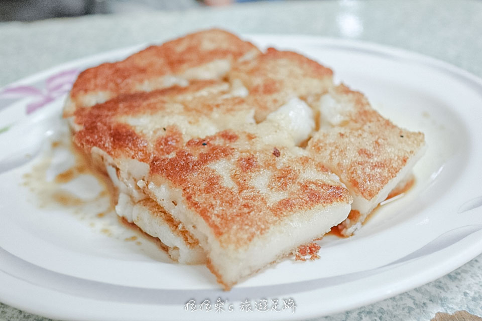花蓮中福早餐店焦酥口味的蘿蔔糕