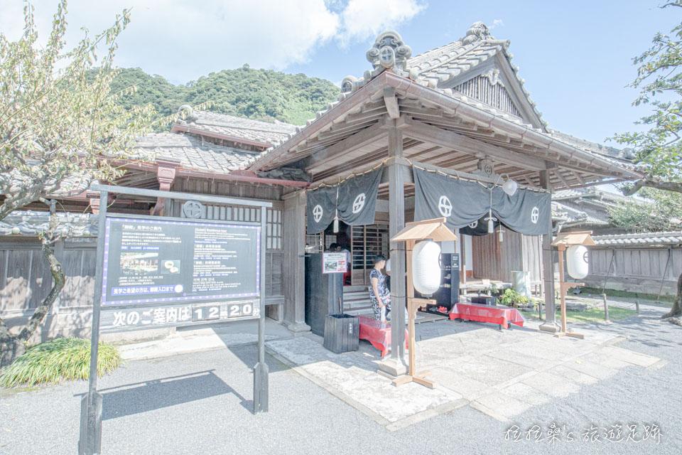 座落於仙巖園中的御殿就是島津家居住過的別邸