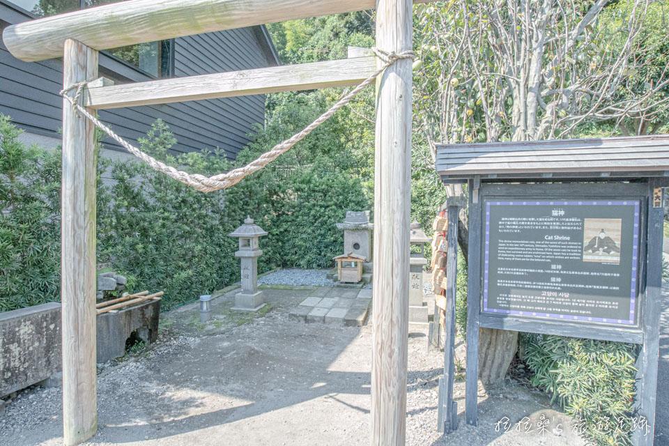 仙巖園裡很特別的貓神社