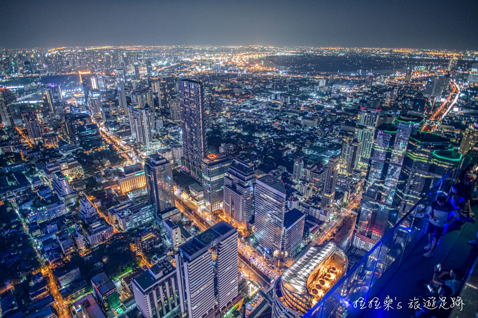 曼谷Mahanakhon Skywalk最迷人的夜景