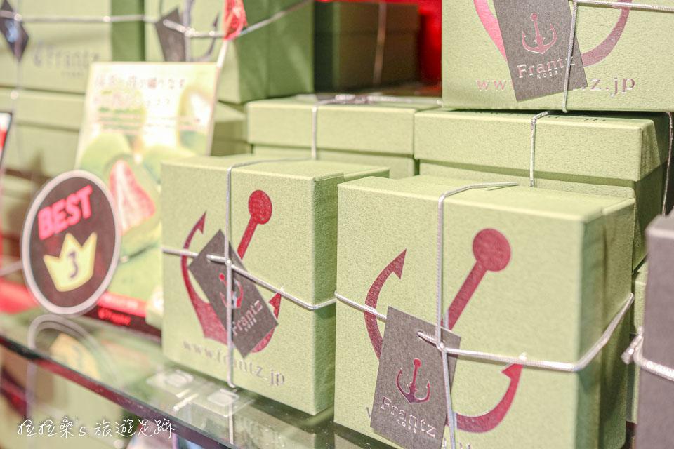 神戶Frantz的草莓松露抹茶外層搭配高等級的抹茶粉,內層則包著神戶在地產的草莓