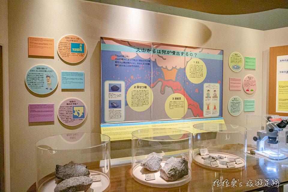 櫻島遊客中心後半段則是櫻島火山的歷史、介紹