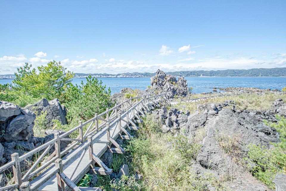 櫻島溶岩なぎさ遊歩道僅有少數階梯,走起來很輕鬆