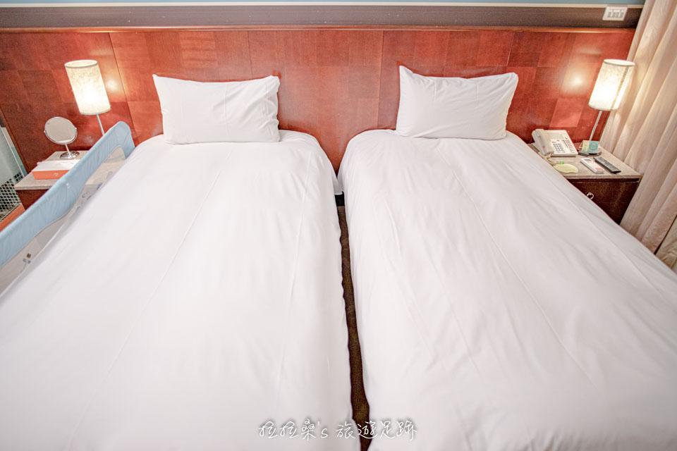 台中文華道會館的標準房型 (兩床)