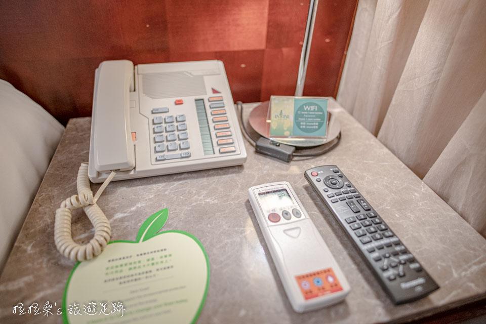 台中文華道會館的客房、公共區域均有免費wifi可使用