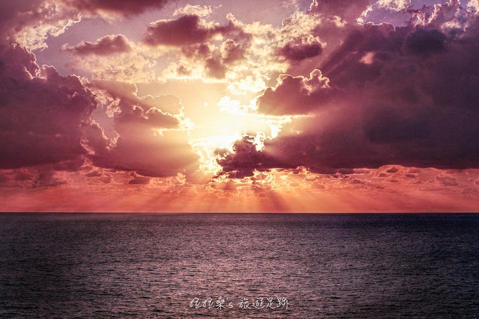 位於沖繩最北端的辺戸岬,也有很美的日出風景
