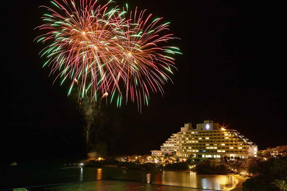 沖繩ANA萬座海濱洲際酒店跨年煙火