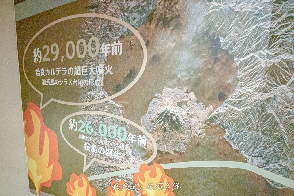 日本櫻島湯之平展望所四處都有櫻島火山的歷史簡介