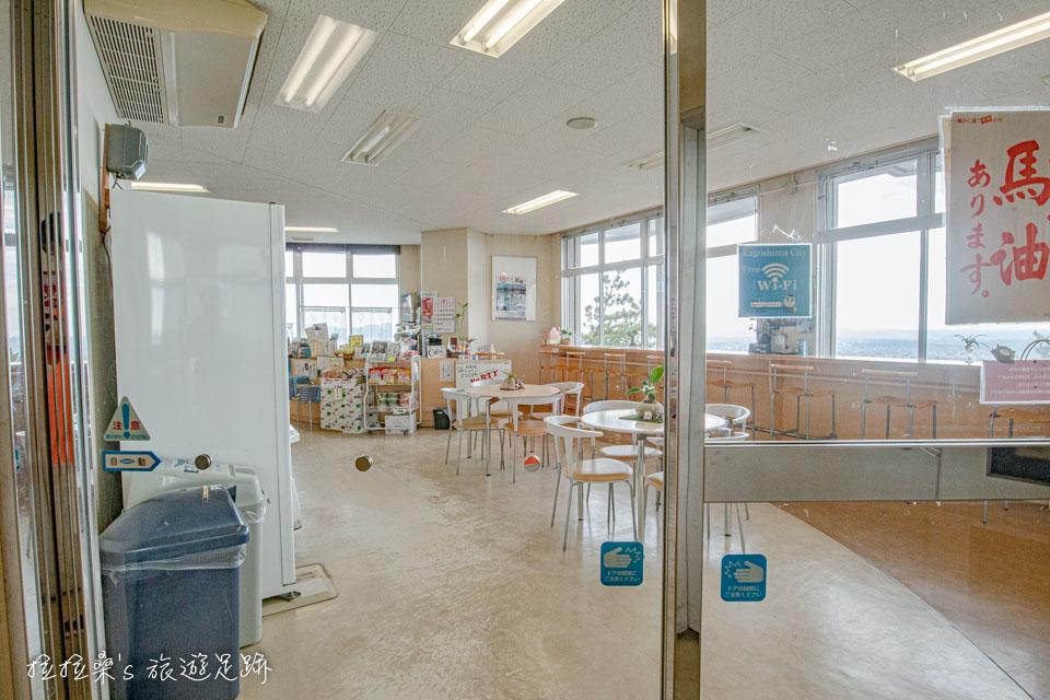 日本鹿兒島櫻島湯之平展望所1樓的小賣店