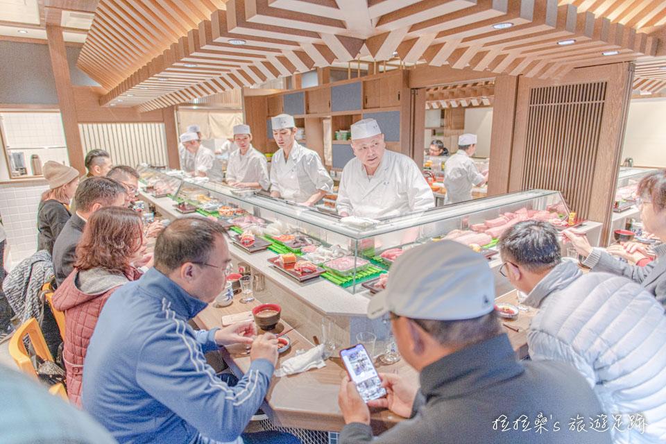 搬到豐洲市場後的大和壽司全新店面