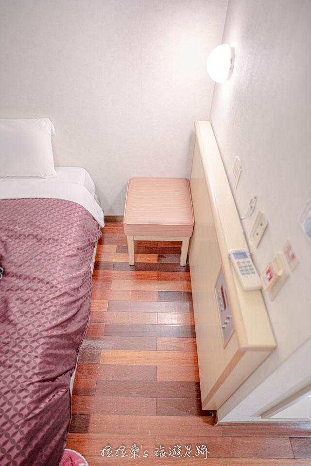 沖繩那霸公園球場飯店房間真的不大,行李無法在地上完全攤開