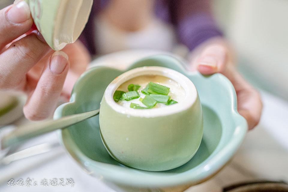 泰國曼谷 Harmonique 的推薦必吃料理,蝦仁蒸蛋