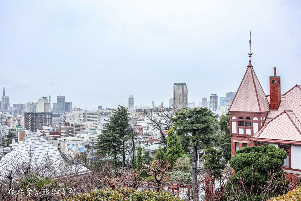 神戶北野天滿神社能看到神戶市景