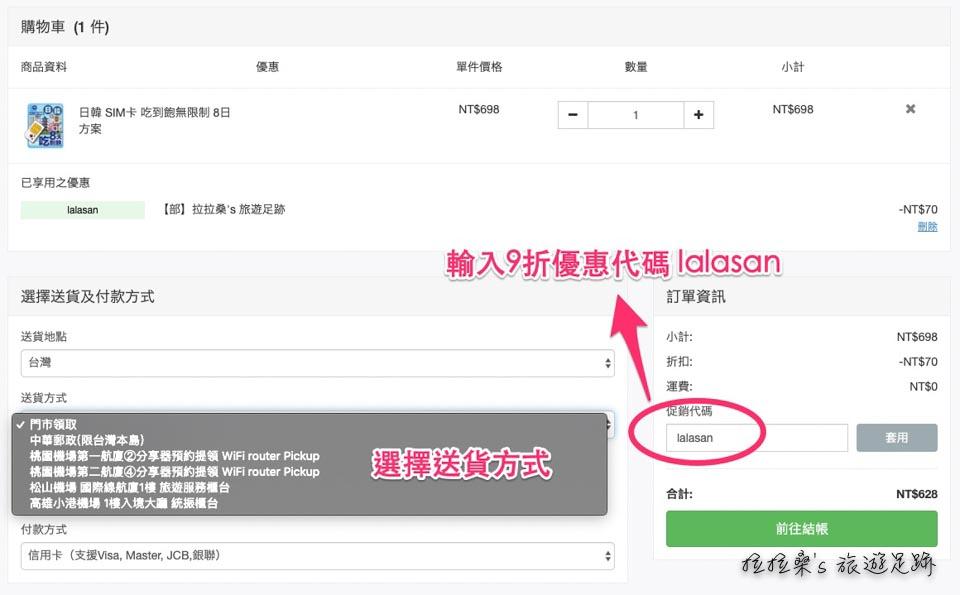 GLOBAL WiFi官網優惠代碼lalasan