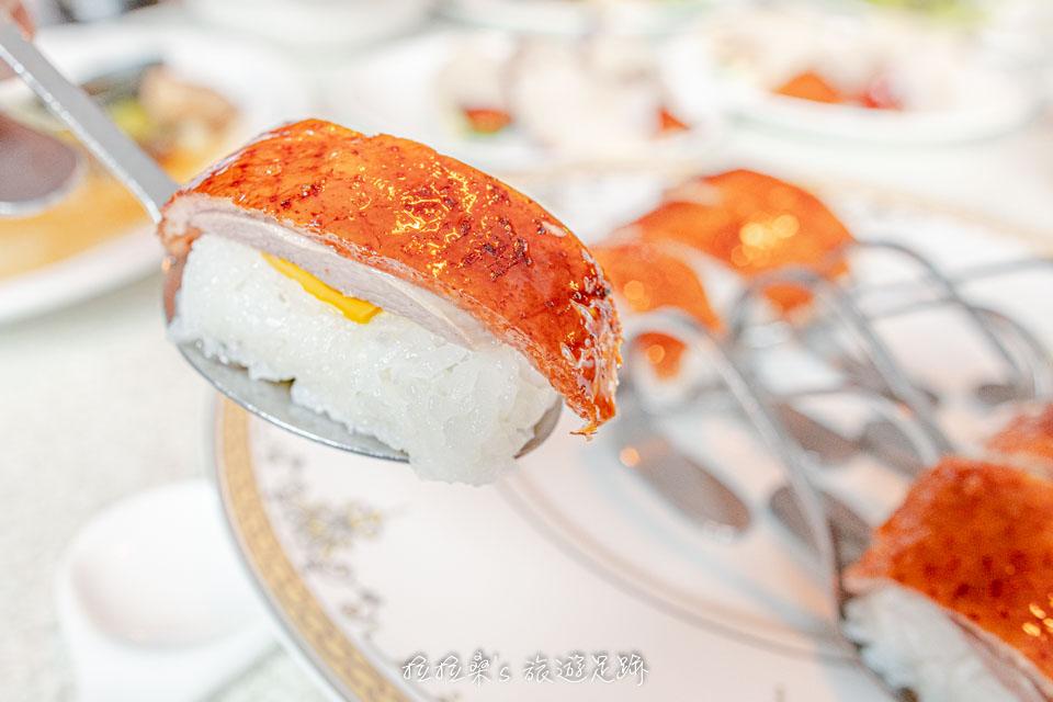 宜蘭礁溪庄櫻桃谷的櫻桃愛大米,造型就像是握壽司一樣,好吃又特別