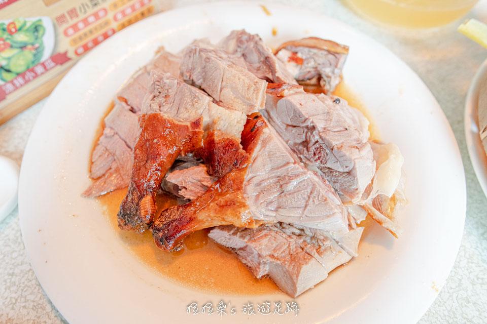 宜蘭礁溪庄櫻桃谷的烤鴨盤,鮮嫩又多汁