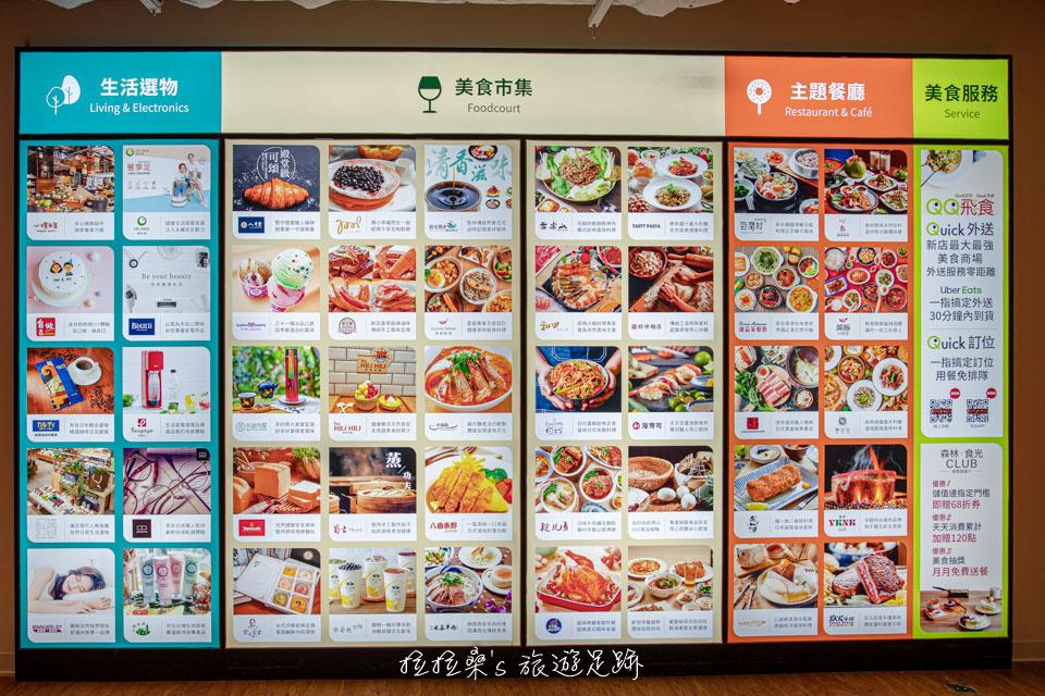 新店京站小碧潭店有將近50個美食品牌