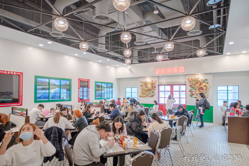 新店維記茶餐廳小碧潭店仍維持正宗香港茶餐廳的設計