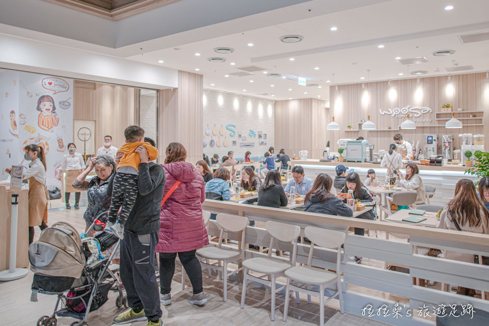 Woosaパンケーキ屋莎鬆餅屋也有在京站小碧潭店開店