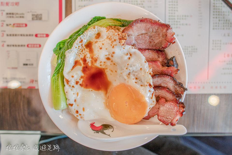 維記茶餐廳的港式叉燒飯,賣像口味都很有水準