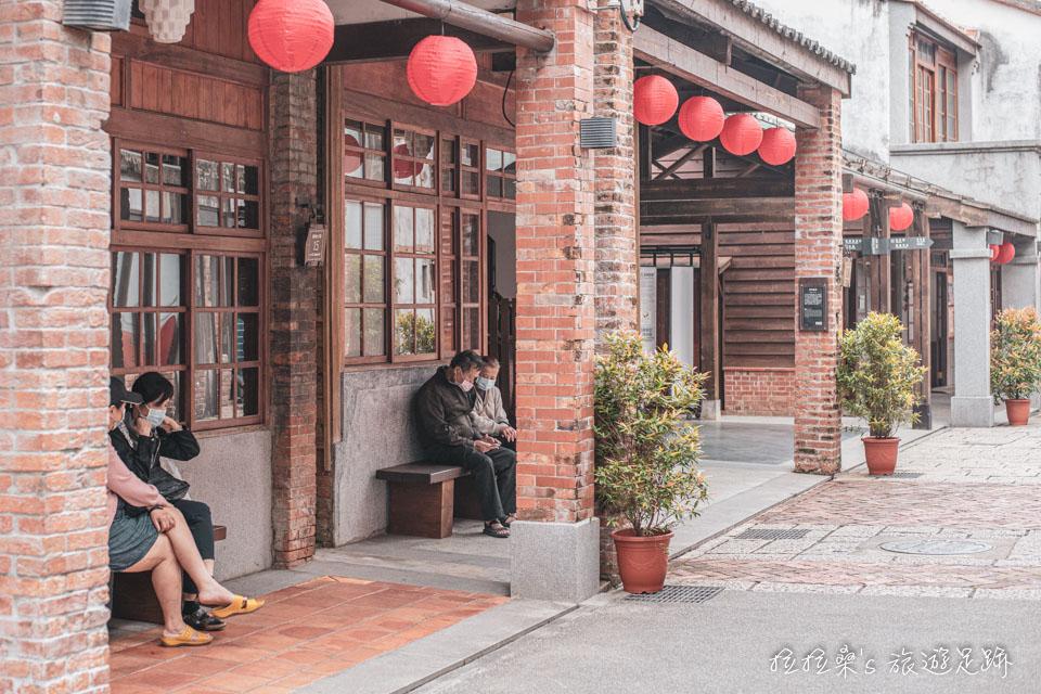 台北剝皮寮老街人不多,頗為幽靜