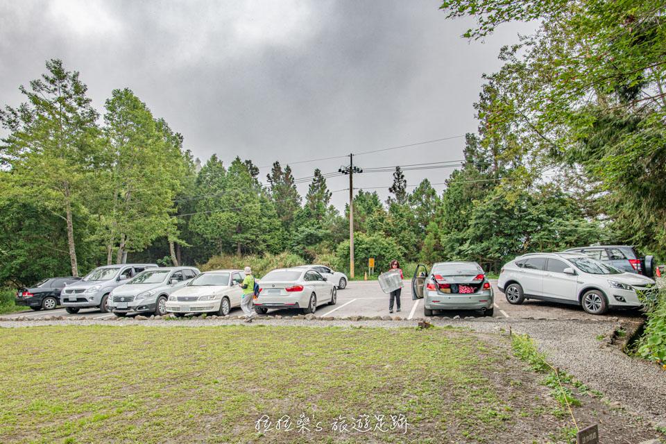 太平山見晴懷古步道前的停車場,約可停10部車左右