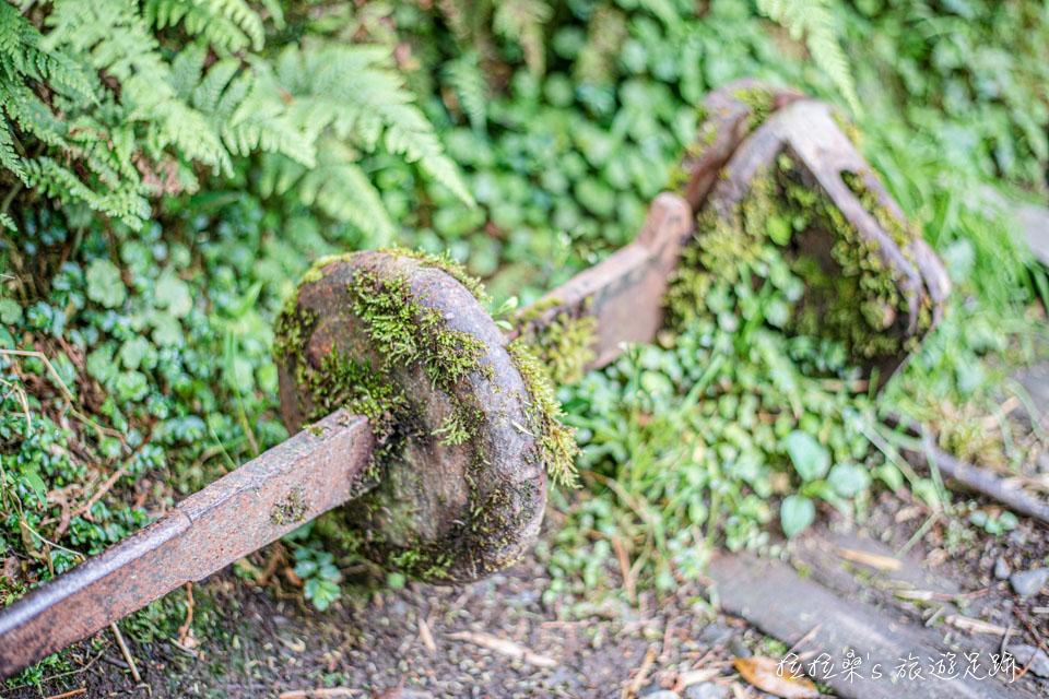 太平山見晴懷古步道上的舊鐵道轉轍器