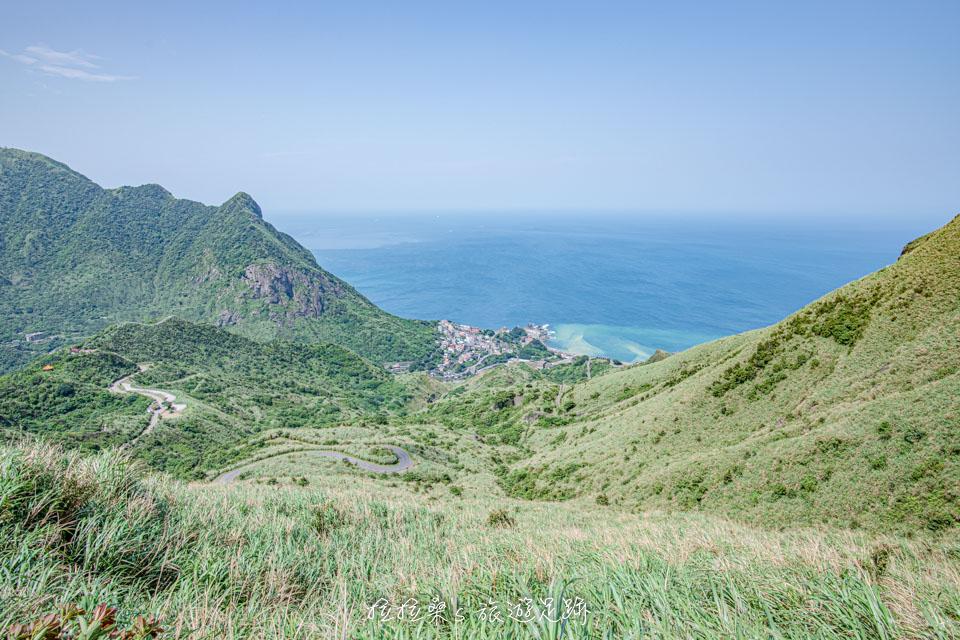 從茶壺山步道看出去的山海美景