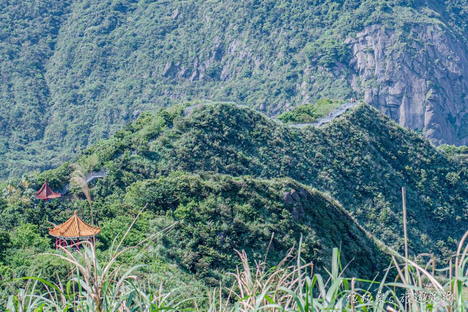 從茶壺山步道能遠眺報時山步道