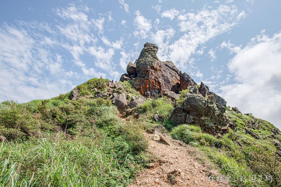山頂上看起來像是無耳茶壺的岩體便是茶壺山命名的由來