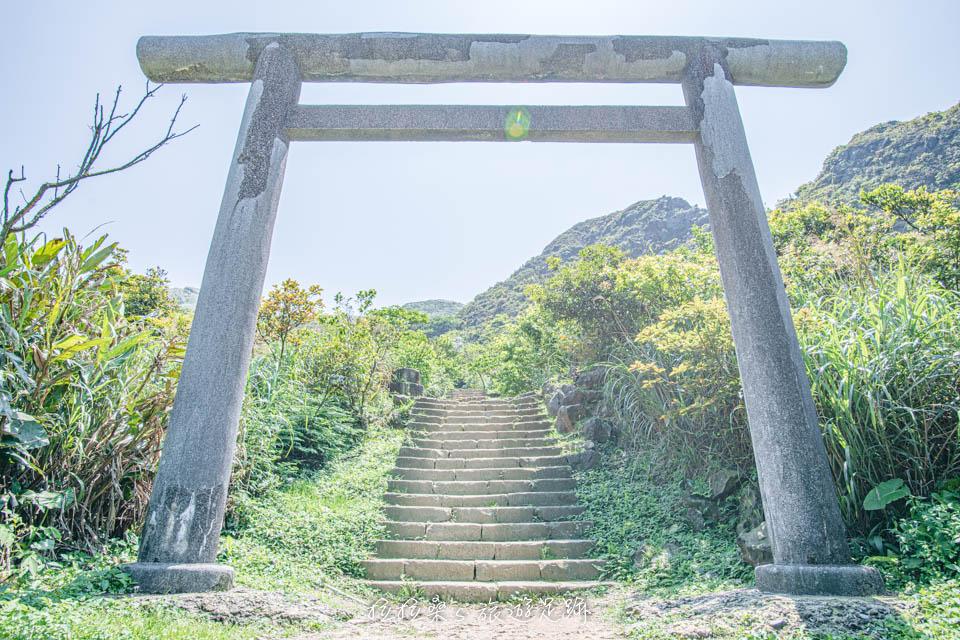 前往金瓜石神社須先爬一段600m的石階路