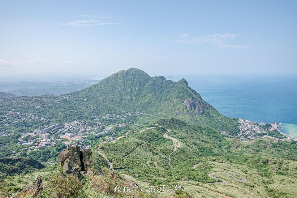 新北九份基隆山登山步道,登上小百岳盡賞夢幻九份山城夜景